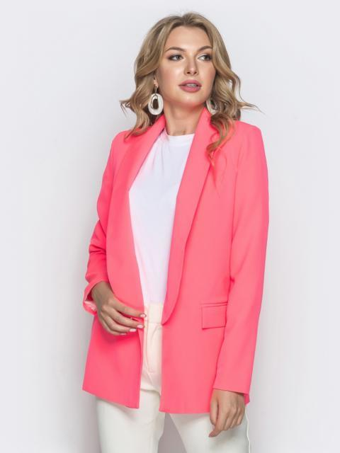 Розовый жакет на подкладке с шалевым воротником - 40000, фото 1 – интернет-магазин Dressa