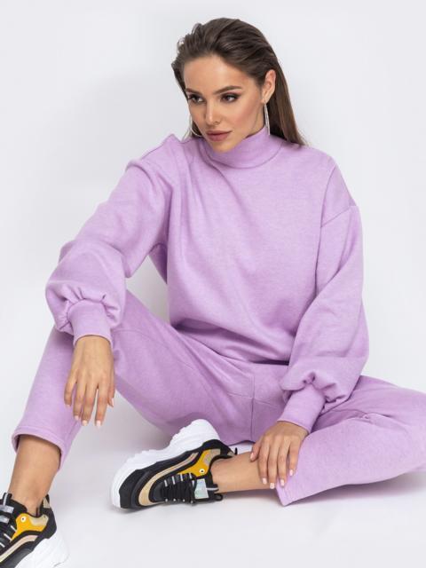 Костюм из ангоры с брюками и кофтой фиолетовый 51663, фото 1