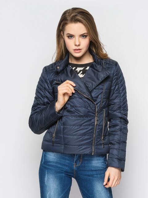 Черная куртка со смещенной молнией на полочке - 12948, фото 1 – интернет-магазин Dressa