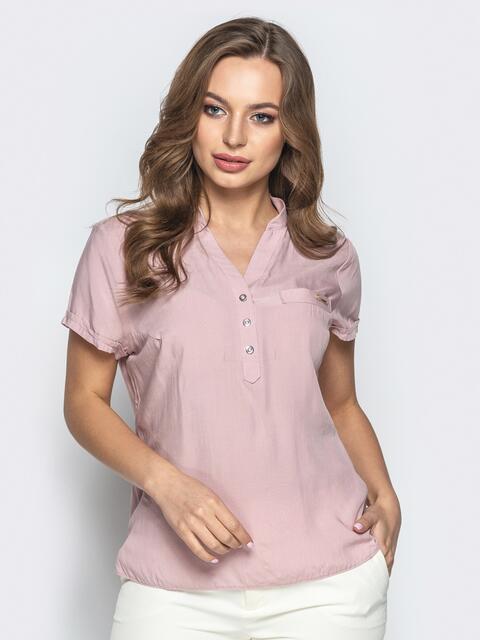 06c9cc37114 Приталенная блузка пудрового цвета 21874 – купить в Киеве