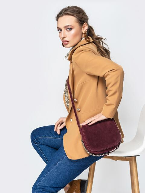 Полукруглая сумка через плечо бордовая - 20524, фото 1 – интернет-магазин Dressa