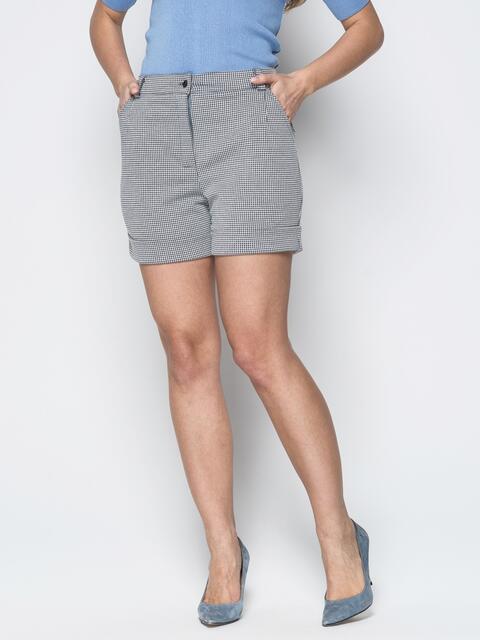 Серые шорты с боковыми карманами и шлёвками - 19425, фото 1 – интернет-магазин Dressa