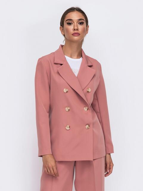 Двубортный пиджак розового цвета 50094, фото 1