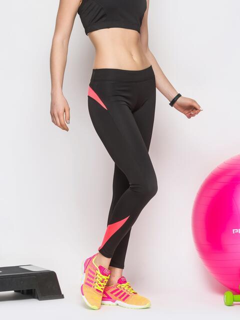 Спортивные лосины с розовыми вставками - 12820, фото 1 – интернет-магазин Dressa