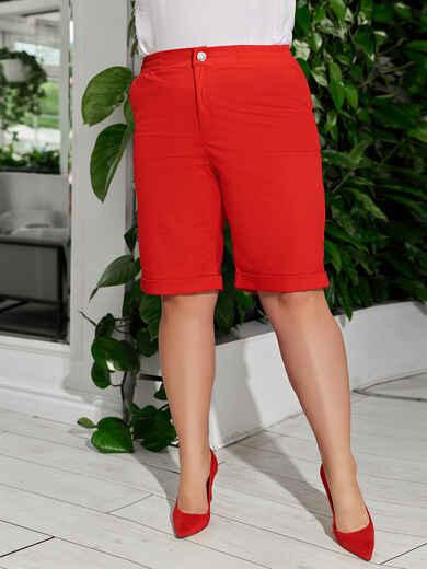 Красные шорты большого размера со стандартной посадкой 49077, фото 1