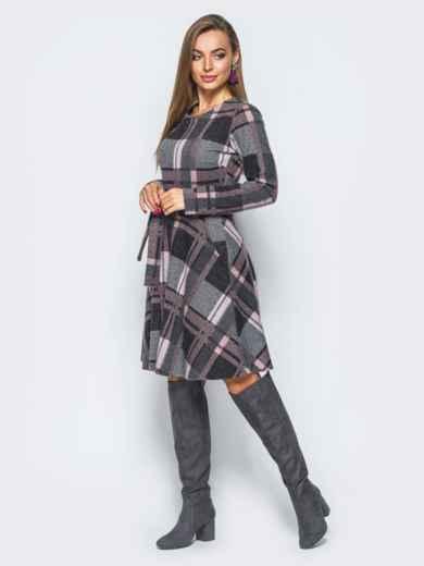 Платье с юбкой-полусолнце и прорезными карманами 17642, фото 3