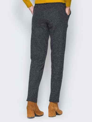 Зауженные брюки из полушерстяного трикотажа - 17619, фото 2 – интернет-магазин Dressa