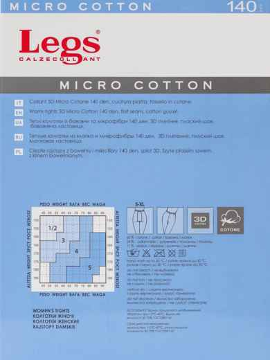Колготки Micro Cotton 140 Den Nero 43595, фото 2