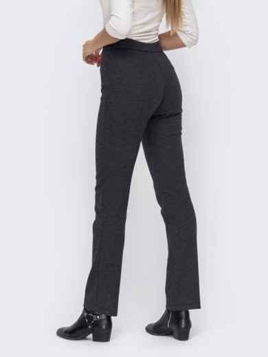 """Серые брюки в """"гусиную лапку"""" с завышенной талией 50850, фото 2"""