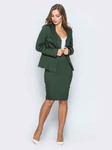 Жакет приталенного кроя с подкладкой зелёный - 14434, фото 2 – интернет-магазин Dressa