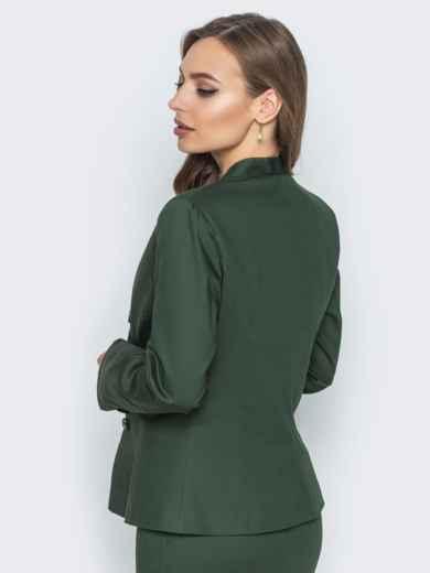 Жакет приталенного кроя с подкладкой зелёный - 14434, фото 4 – интернет-магазин Dressa