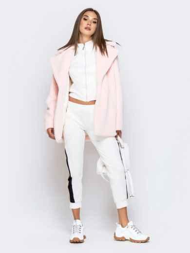 Укороченная шуба из искусственного меха розовая - 40173, фото 6 – интернет-магазин Dressa