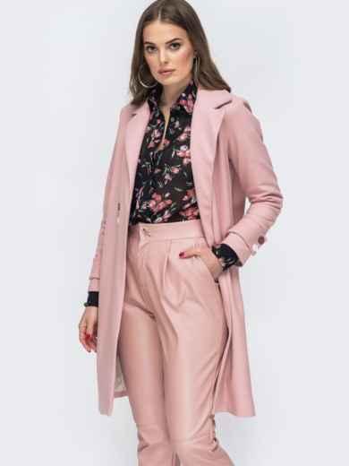 Розовое пальто из кашемира - 45175, фото 2 – интернет-магазин Dressa