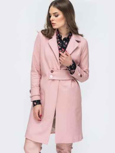 Розовое пальто из кашемира - 45175, фото 4 – интернет-магазин Dressa