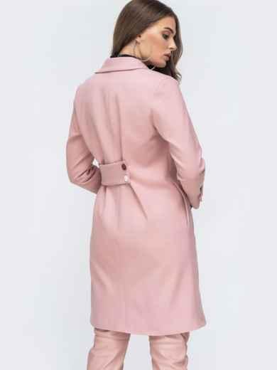 Розовое пальто из кашемира - 45175, фото 5 – интернет-магазин Dressa