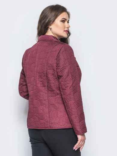 Бордовая куртка на пуговицах с прорезными карманами - 16767, фото 3 – интернет-магазин Dressa