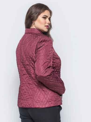 Куртка из лаке с застёжкой на воротнике бордовая - 16759, фото 2 – интернет-магазин Dressa