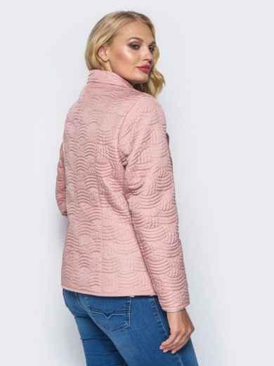 Розовая куртка на пуговицах с прорезными карманами - 16765, фото 3 – интернет-магазин Dressa