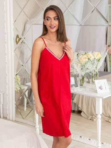 992f35e14 Сатиновый комплект из халата и сорочки красный - 20471, фото 4 –  интернет-магазин
