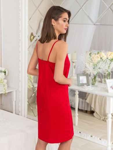 43a46dc7d Сатиновый комплект из халата и сорочки красный - 20471, фото 5 –  интернет-магазин