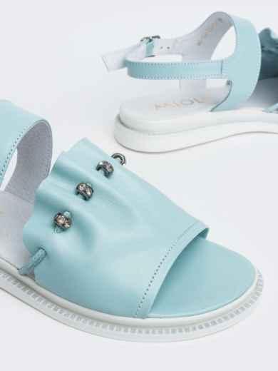 Голубые босоножки с фурнитурой - 39105, фото 5 – интернет-магазин Dressa