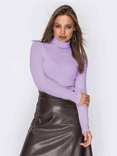 Трикотажный гольф фиолетового цвета 44723, фото 1