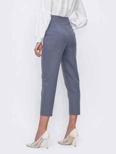 Укороченные брюки с высокой посадкой серые 49401, фото 2