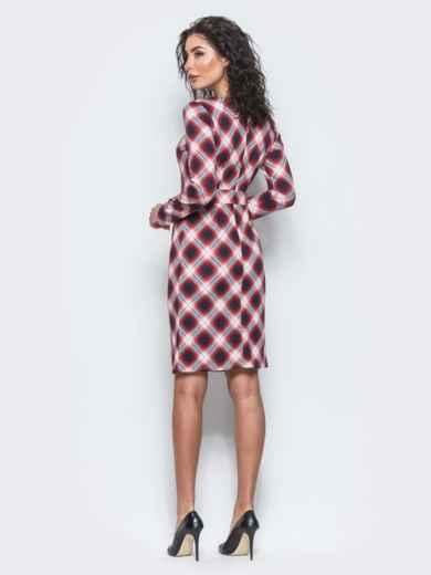 Красное приталенное платье с втачным поясом - 12687, фото 3 – интернет-магазин Dressa
