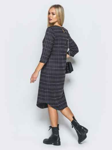 Платье из костюмной ткани с вырезом на горловине - 17591, фото 3 – интернет-магазин Dressa