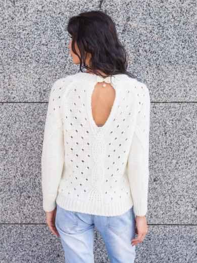Пуловер с вырезом на спинке - 13173, фото 2 – интернет-магазин Dressa