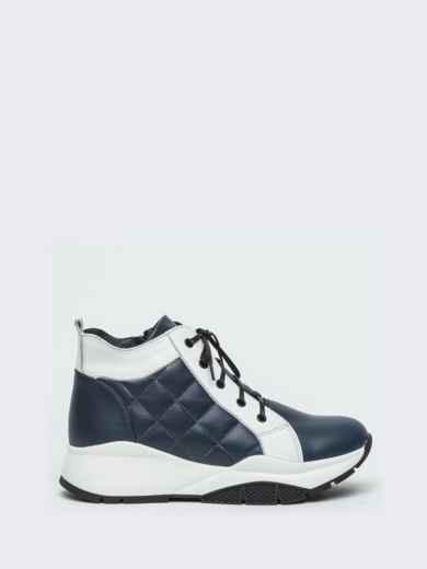 Зимние ботинки из натуральной кожи на толстой подошве синие - 41669, фото 4 – интернет-магазин Dressa
