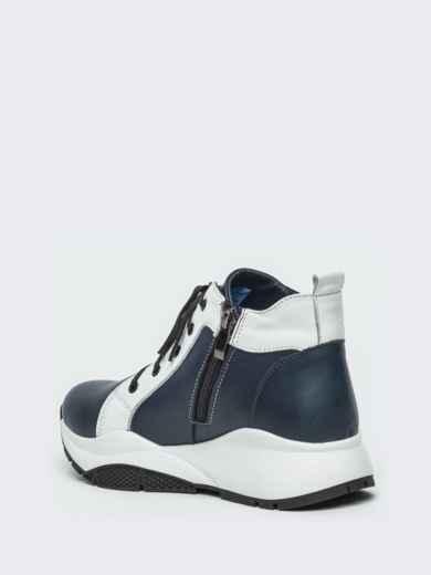 Зимние ботинки из натуральной кожи на толстой подошве синие - 41669, фото 5 – интернет-магазин Dressa