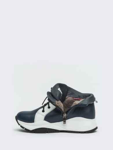 Зимние ботинки из натуральной кожи на толстой подошве синие - 41669, фото 6 – интернет-магазин Dressa