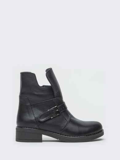 Зимние ботинки из натуральной кожи с фигурным верхом чёрные - 41664, фото 5 – интернет-магазин Dressa