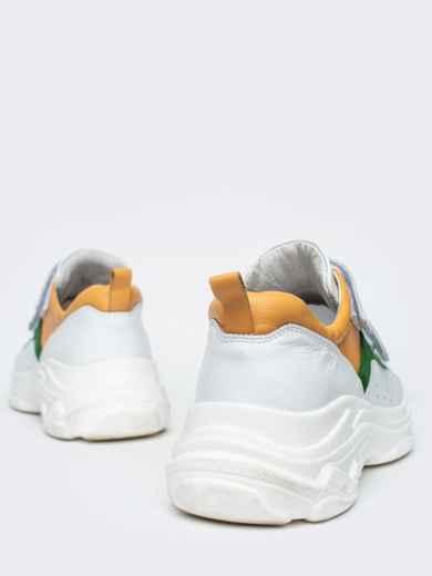 Зеленые кроссовки на липучках с контрастными вставками - 21418, фото 5 – интернет-магазин Dressa