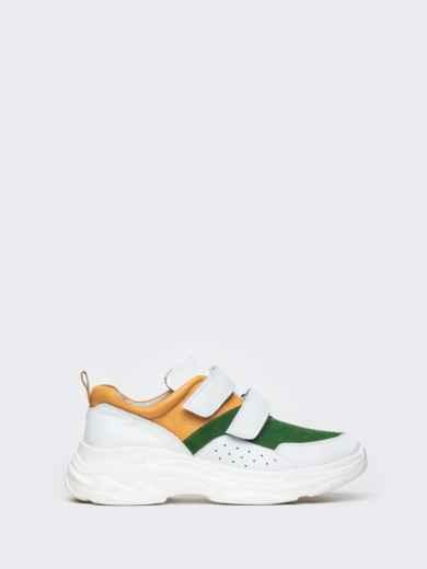 Зеленые кроссовки на липучках с контрастными вставками - 21418, фото 6 – интернет-магазин Dressa