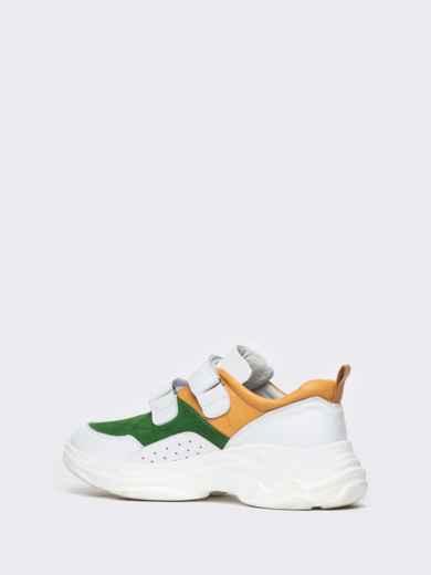 Зеленые кроссовки на липучках с контрастными вставками - 21418, фото 7 – интернет-магазин Dressa