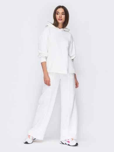 Белый костюм с худи и брюками на резинке 53488, фото 1
