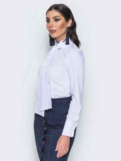 Рубашка с функциональными пуговицами и белым поясом 14562, фото 2