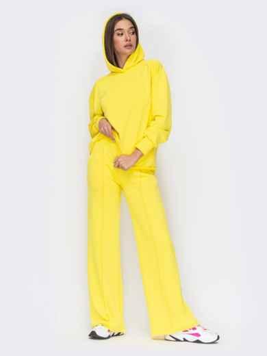 Желтый костюм с худи и брюками на резинке 53489, фото 1