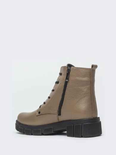 Зимние ботинки из кожи бежевого цвета на молнии - 41665, фото 6 – интернет-магазин Dressa