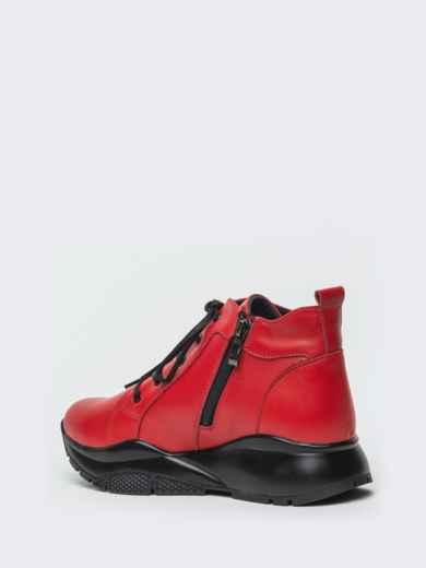Зимние ботинки из натуральной кожи на толстой подошве красные - 41670, фото 6 – интернет-магазин Dressa