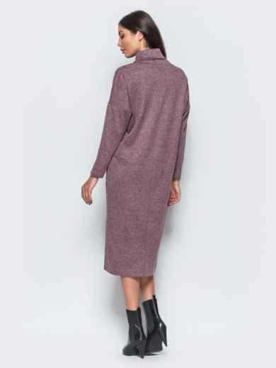 Меланжевое платье розового цвета в стиле oversize  - 17594, фото 4 – интернет-магазин Dressa