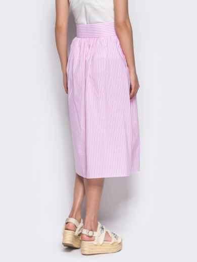 Юбка-миди на пуговицах розовая - 12167, фото 5 – интернет-магазин Dressa