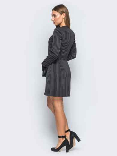 Платье-пиджак с подкладкой и плечиками черное - 18095, фото 2 – интернет-магазин Dressa