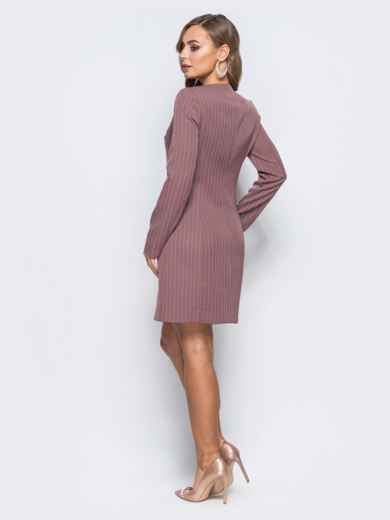 Платье-пиджак с подкладкой и плечиками пудровое - 18093, фото 2 – интернет-магазин Dressa