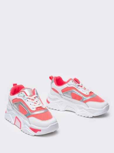 Розовые кроссовки на массивной подошве 51382, фото 2