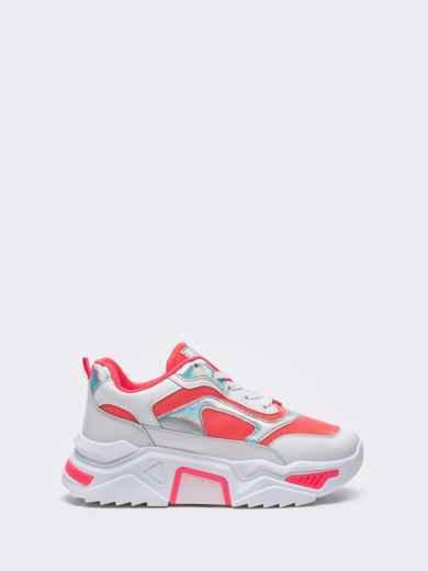 Розовые кроссовки на массивной подошве 51382, фото 3