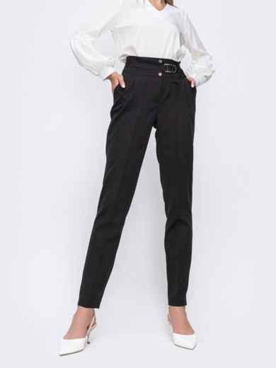Черные брюки со вшитым поясом 49637, фото 1