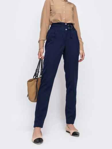 Тёмно-синие брюки с вместительными карманами по бокам 49635, фото 1